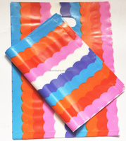 rainbow colorful die cut handle gift bag
