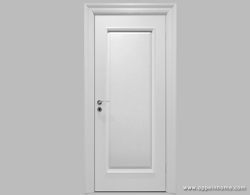Oppein white timer lacquer finish door wooden door interior door - Finished white interior doors ...