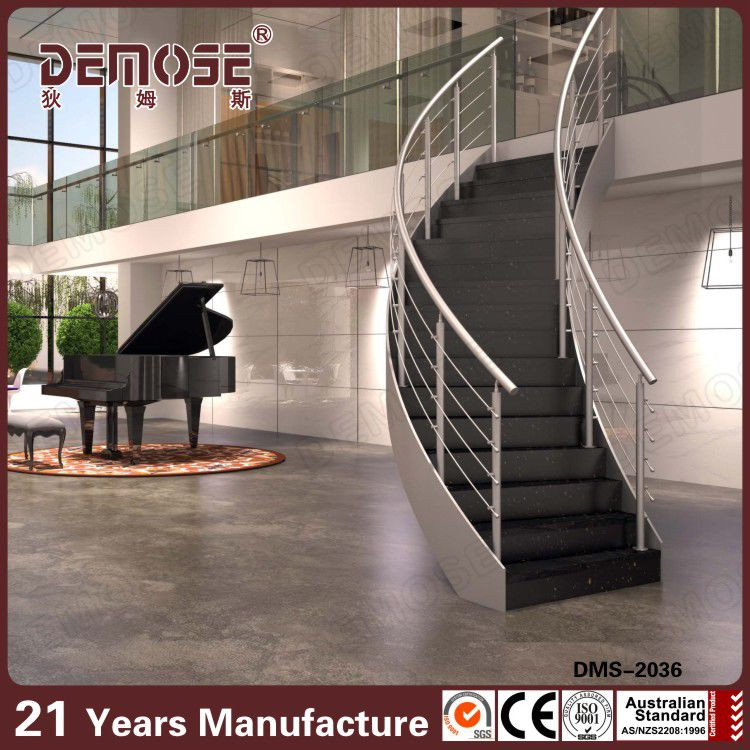Wood Step Prefab Metal Stair Railing Internal Stairs Residential. DMS 2036