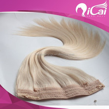 Peruvian Human Hair Flip In Hair Silk Straight 7A Grade No Shedding&No Tangle Soft/Glossy 60#