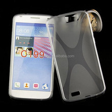 X Line Tpu soft Gel Skin Back Cover Case For huawei Ascend G7 C199