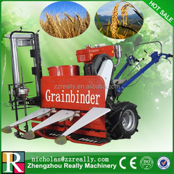 Self propelling walk behind rice paddy,wheat and rice harvest machine