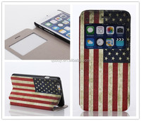 National flag phone case painting flip case for iphone 6 4.7""