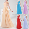 2015 Walson Stock Chiffon Evening Ball Gown Formal Long Prom Party Bridemaid Dresses