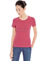 Cheaper basics blank cotton women t-shirt