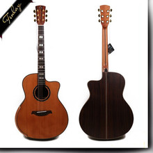 Finlay FC-A80 40 inch high quality guitars wholesale china All-Solid Wood electric Folk Acoustic Guitar