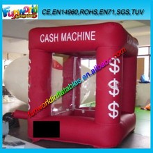 Promotion Advertising Cube Inflatable Cash Machine Grab Money Booth For Sale (FUNPM1-084)