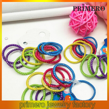 PRIMERO 2015 Hot selling loom cheap rainbow band non toxic colorful wholesale DIY band loom colored rubber band rings