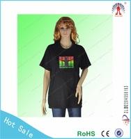 Fashion style t-shirt led display custom led t-shirt China supplier