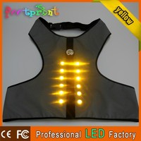 Popular shining led reflective safety dog clothes