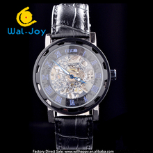 2014 latest design vogue semi automatic mechanical men watch(WJ-1387)