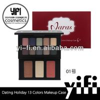 Professional! Dating Holiday 13 colors Makeup Case make up waterproof eyeshadow