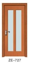 2015 jiangshan new design smoked glass single sliding interior door modern kitchen wooden door design
