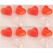 Brand NEW Red Plastic Acrylic Fillable heart Ornament