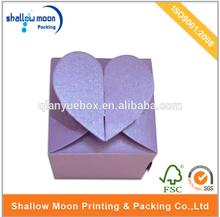 wholesale novelty design heart shape purple wedding favors box