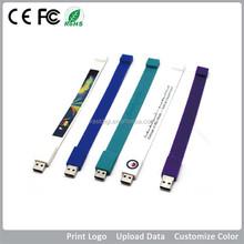 promotional lowest price bracelet wristband USB