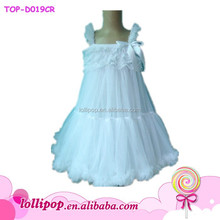 2015 wholesale lovely white color baby girl wedding dress