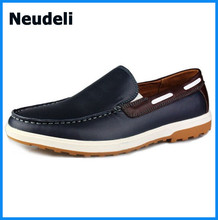 wholesale 2015 Men sneakers Fashion Sport genuine Leather shoes Casual shoes for men
