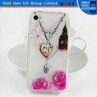Diamond TPU Skin Case Cover Pouch For iPhone 4
