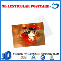 New design Christmas 3d lenticular postcards
