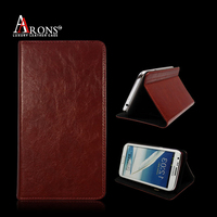 Genuine leather case stand cell phone sticker card holder