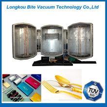 Disposable Plastic Spoon Fork Silver Vacuum Metallizing Machine, Vacuum Metallizing Plant