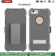 Hybrid Is sandwiched case for iPhone6 case shockproof custom mobile phone case for apple iphone6