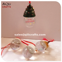 New design Christmas glass snow globe clear water globe for souvenir decoration