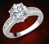 2015 CZ Zircon Simulated Diamond King Crown Ring for Women Fashion Jewelry