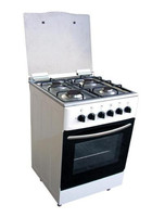 60*60cm Gas Freestanding Oven Or Electric Oven with double oven, plastic knob, blue fire