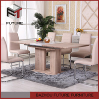 Modern wooden dining table extendable