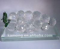 Optical glass classics fruit sculpture gift crystal grape