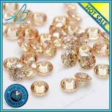 Round cubic zirconia semi precious gemstone
