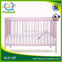 eco-friendly pine wood baby cot,adjustable children sleeping bed