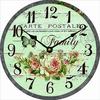 butterfly design glass wall clock