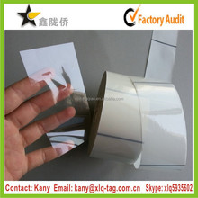 2015 Cheap roll adhesive thermal transfer bopp clear labels