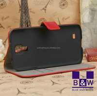 Mobile phone covers crazy horse pattern filp leather wallet case for samsung galaxy s4 i9500