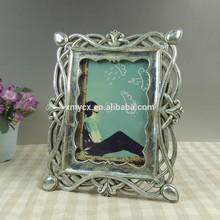la pintura de plata al por mayor de resina 5x7 marcos de foto