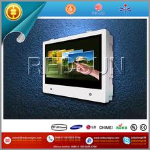 Advertising kiosk touchscreen for airport/hotel