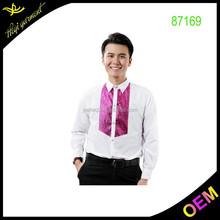 White uniform shirt with purple sequins 2015 hot sale