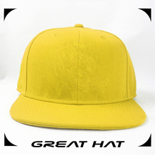 Stock cotton acrylic structured affordable any color plain flat caps