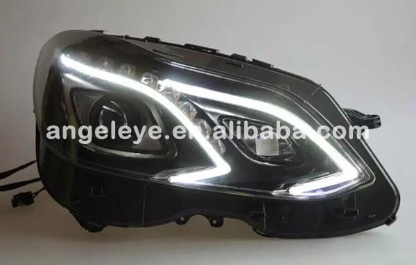 서스펜션 W212 E320 헤드 라이트 원래 자동차 HID 헤드 램프 w212 블랙 ...