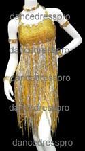 #2027 Sequined tassel Sexy Customs-made Rumba Dance Dress