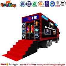 Qingfeng mobile amusement park equipment cinema 7d dried mango for sale