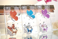 Colorful butterfly Rhinestone bling bing hard back Cover for iphone 5 5s, diamond cases for iphone5