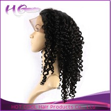 HotCool high quality lace curly hair wig natural black can be dyed grey curly hair wigs