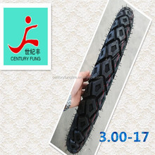 high quality professional manufactuer 3.00-17 motorcycle tube tyres and tubeless tyres