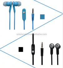 2015 High Quality earphone Colorful Mono Wired Earphone for Mobile Phone User