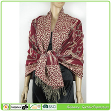 acrylic viscose brushed fleece ladies stoles and shawls,printed flower wholesale wide shawls