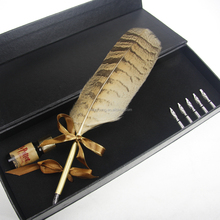 Hand made gift owl feather pen
